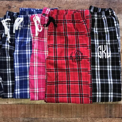 Pajama Pants Embroidered